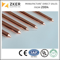 high conductivity copper earthing bar earthing material