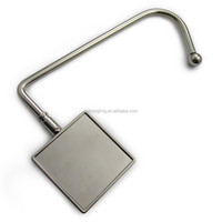 square blank metal unfoldable purse hook