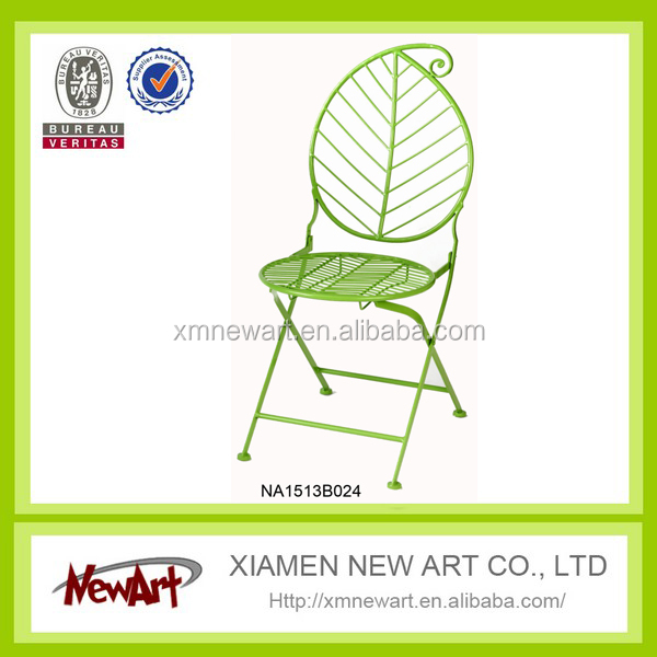 garden furniture metal mosaic folded chair massager dining chair round chairs