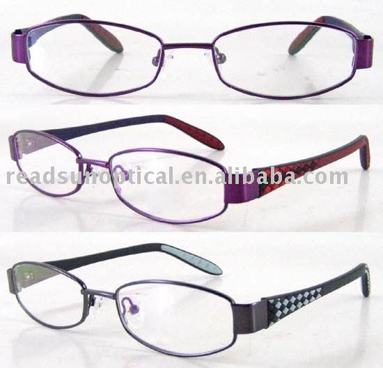 Economic Kids Rubber Temple Eyeglasses with Rhombus(OMK120035A)