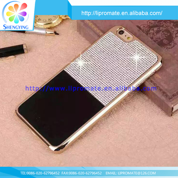 100% Brand new phone custom mobile leather PC bling rhinestone cover case for iphone5