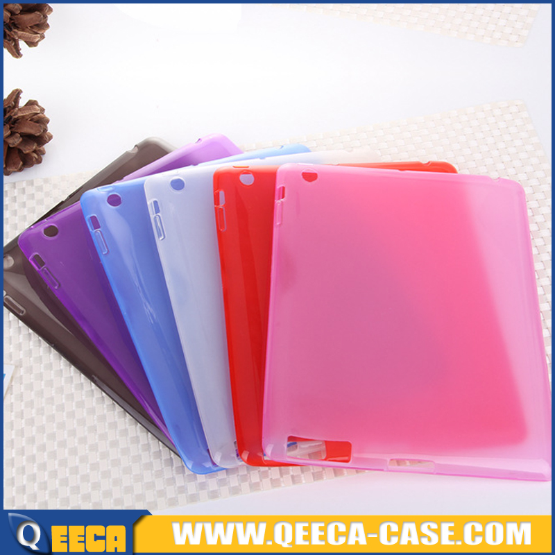 Ultra thin soft TPU case for ipad, transparent slim case for ipad 2 3 4 tpu cover