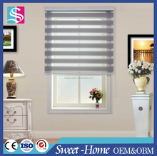 Horizontal Pattern And Slat Style Zebra Roller blinds