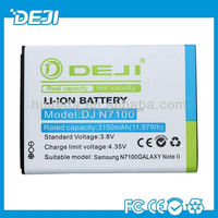 High quality 3100mah mobile phone battery for samsung galaxy note2 battery