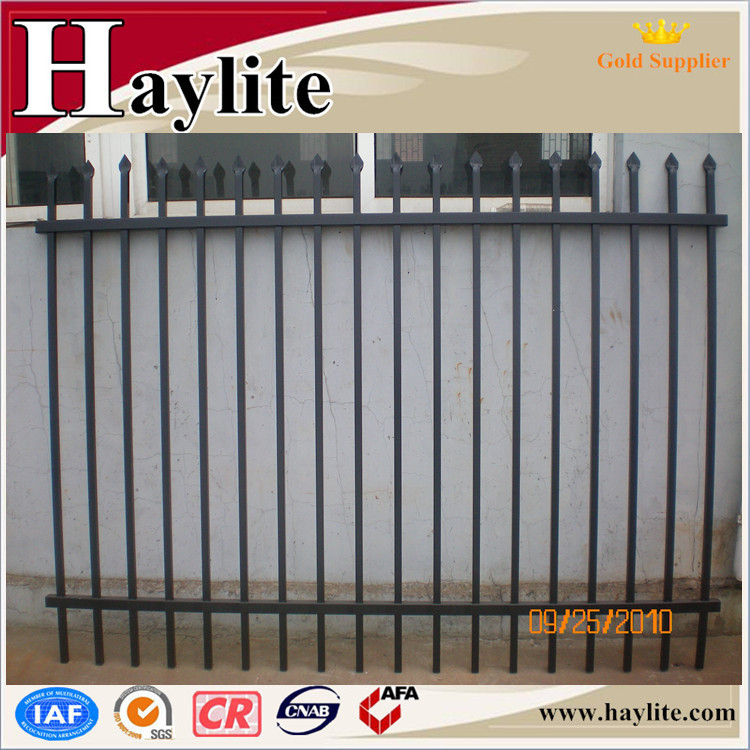 Metal garden black fence powder coated finish