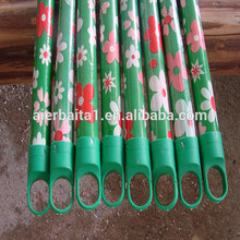 pvc wooden stick / natural wooden stick broom handles broom handle with cover