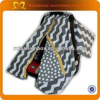 2013 custom infant car seat covers design grey chevron washable replacement baby seat covers