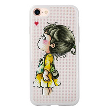 DFIFAN aliexpress hot selling unique diy cross stitch phone case for iphone 7,mesh dots phone cover case for iphone 7