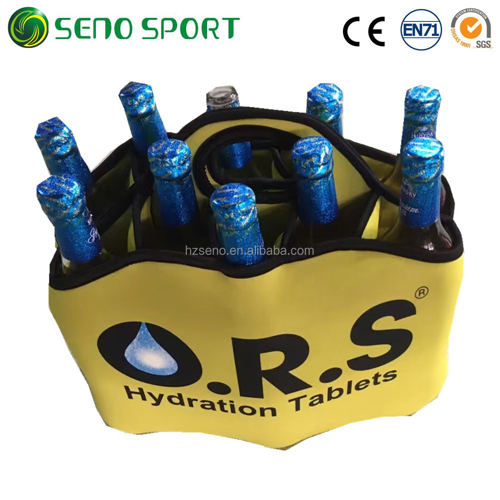 High Quality Neoprene Insulated 10 Pack Beer Bottle Cooler Cover