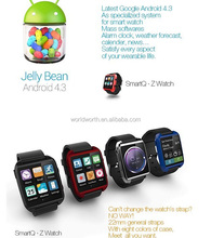 smartq z watch 100% Original SmartQ Z1 Smart Watch For i phone Galaxy Note3 WIFI Android 4.3