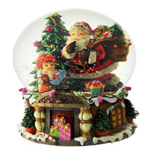 customized santa music box with gift bag for sale