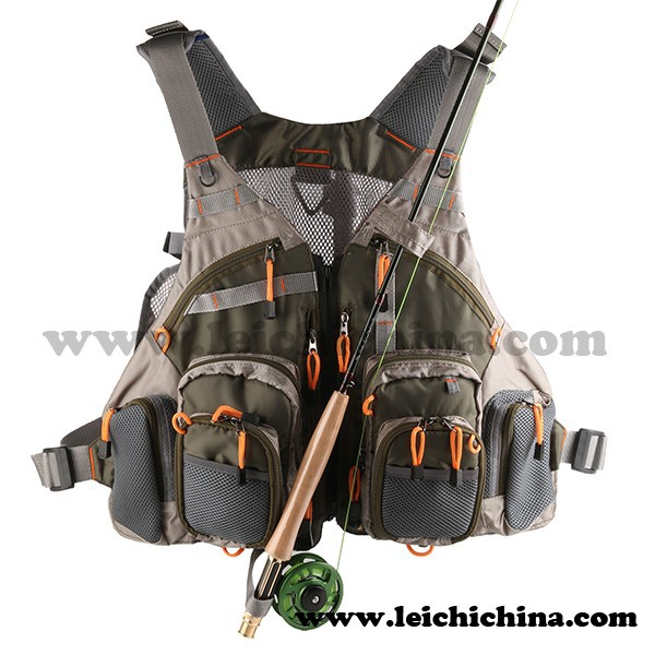 Stock available fly fishing mesh vest with pocket