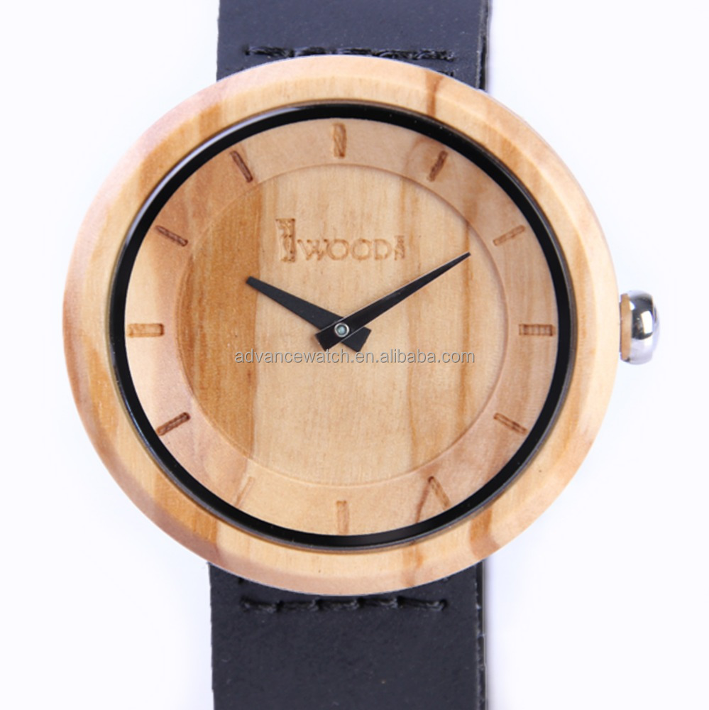 2016 new fashion Iwooden wood watch made from olive wood .manufactured by shijin watch