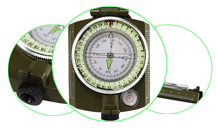 Multi-function Aluminium alloy military compass
