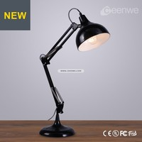 Modern study foldable LED black desk lamp light