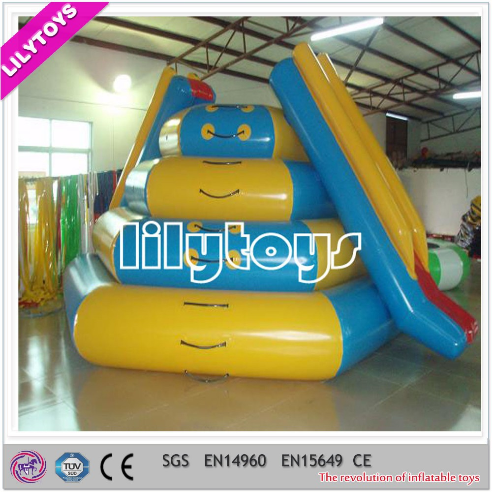 Colorful water slide for lake/ inflatable water toy
