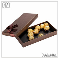 Hot Sale christmas gift boxes with lids for chocolate/candy pack