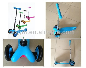 2016 hot sale good cheap aluminum tube three wheels kids scooter kick scooters for sale