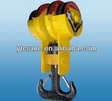 Crane Hook Block/Heavy Crane Hook used for overhead crane gantry crane/double hook for crane