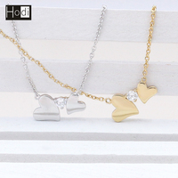 2018 Fashion Women Heart Necklace Simple Gold Chains Necklace Design 18K Gold Necklace Wholesale in China