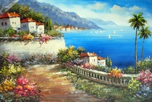 scenery painting 2016 canvas art knife painting eager art