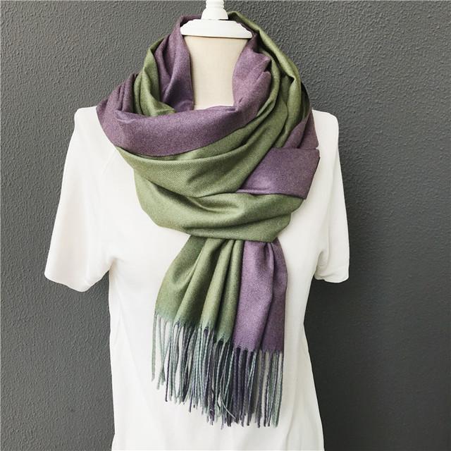 small MOQ wholesale winter warm cashmere acrylic women neck stole scarf shawls
