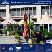 Good selling maximum wind loading 100km/h(0.5kn/sqm) pinnacle marquee garden restaurant canopy