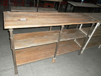 american country rustic wooden shelf/antique industrial shelf