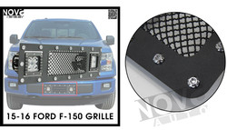 Aftermarket Accessories For Cars Steel Front LED Front Grilles For F-150 F.ord