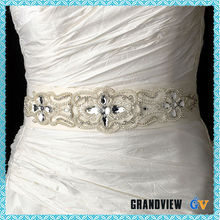 Wholesale elegant white rhinestone woman wedding dress belt