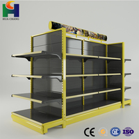 competitive price guangzhou metal supermarket pop display shelf racks for senor goods beer