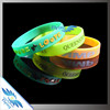 Embossed Ink Injected Rubber Silicone Bracelets