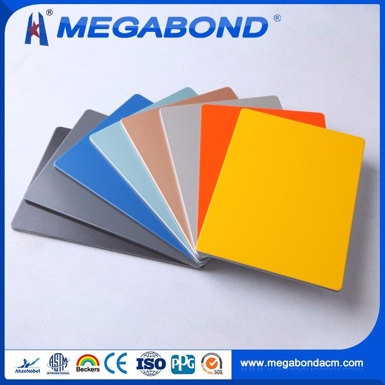 Megabond High Strength aluminum composite panel decorating color chart