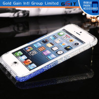 Premium Bling Diamond Smart Phone Hard Clear Bumper Case For Iphone 5C