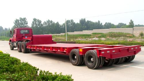 Heavy Machine Transport 2 Line Multi Alxe Hydaraulic 60ton Capacity Low Bed Trailer