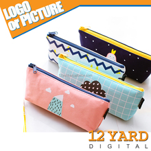 Children cute pattern digital printed school pencil case students bag