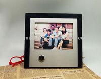 Customized new style charming photo frame insert clock