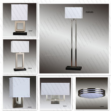 UL CUL Listed Brushed Nickel Modern Hotel Floor Lamp Sets For Bedroom Fixtures H90006