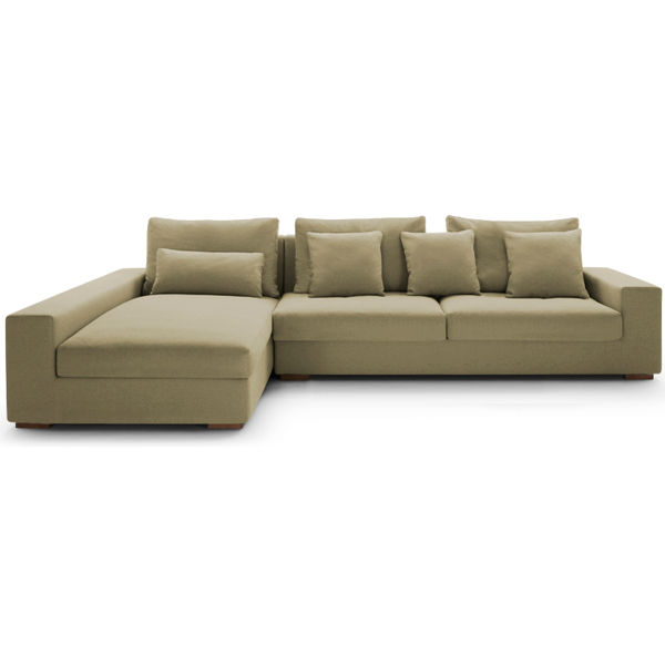 Modern fabric corner sofa small corner sofa for living for Inexpensive modern sofa