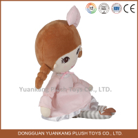 Plush lovely baby girl doll toy