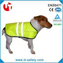 breathable fluorescent yellow small medium large size hi vis reflective safety pet vest