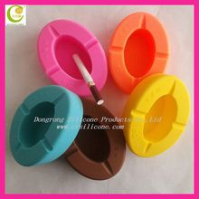 Smoking less rubber silicone ashtray suitable for promotion gifts