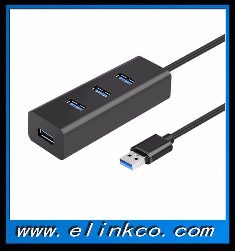 High Speed 4 Port usb 3.0 Hub with LED indicator for PC