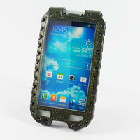 For Samsung galaxy SiV S4 i9500 military Luxury Pull tab Genuine leather pouch case