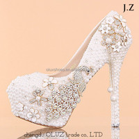 OW02 bridal shoes and matching bags wedding crystal shoes