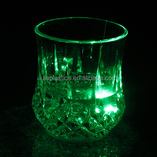 Plastic led whisky glass for bar&Party, plastic drinking glass Led