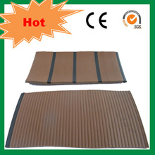 Rubber wood floor decking pvc decking used on yacht