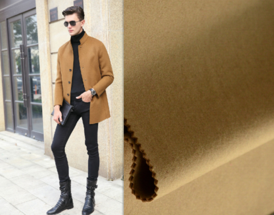 Heavy Woven Wool Cashmere Blend Winter Clothes Fabric
