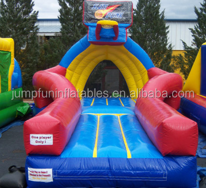 inflatable slam dunk for basketball game