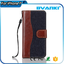 Wholesale business leather phone case shockproof magnetic phone shell specially designed case for apple for iphone 7